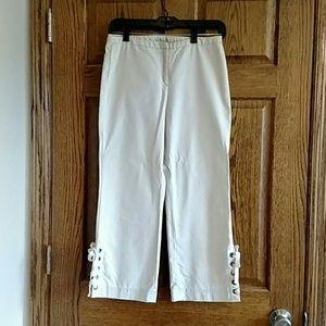 Express stretch capri-length/cropped pants, sz 1/2